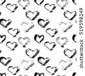 abstract seamless heart pattern.... | Shutterstock .eps vector #519598249