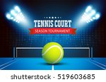 tennis ball championship or... | Shutterstock .eps vector #519603685