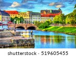 canal in the historic centre of ... | Shutterstock . vector #519605455