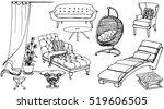 set   vector sketch of... | Shutterstock .eps vector #519606505