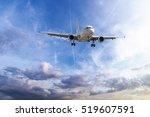 passenger plane take off from... | Shutterstock . vector #519607591