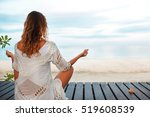 fitness  yoga  perfect tanned... | Shutterstock . vector #519608539