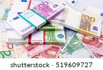 cash money. euro bills. Euro currency money - stock photo