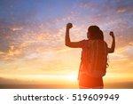 silhouette of sport woman feel... | Shutterstock . vector #519609949
