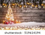 Christmas Decoration On Wooden...