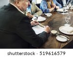 business people dining together ... | Shutterstock . vector #519616579