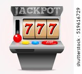 slot machine with lucky seven.... | Shutterstock .eps vector #519616729