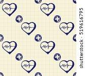vector doodle seamless... | Shutterstock .eps vector #519616795