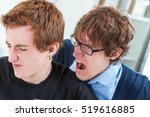 boss or colleague shouting in... | Shutterstock . vector #519616885