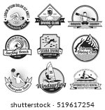 water sport black and white... | Shutterstock . vector #519617254