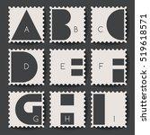 abstract typeset   postage... | Shutterstock .eps vector #519618571