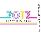 happy new 2017 year. colorful... | Shutterstock .eps vector #519620065