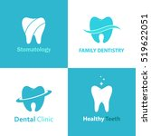 dental clinic or care logo... | Shutterstock .eps vector #519622051