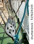 Details Of A Sailboat Equipmen...