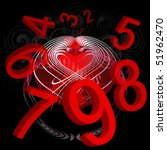 numbers from one to nine in red ... | Shutterstock . vector #51962470