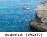 st peter pool bay  malta dec 8  ... | Shutterstock . vector #519626905