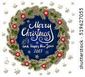 merry christmas and happy new... | Shutterstock .eps vector #519627055