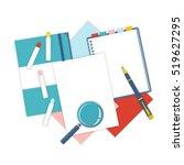 Flat Design Notepad  Paper...
