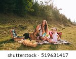mother and daughter at a picnic ... | Shutterstock . vector #519631417