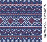 christmas knitting seamless... | Shutterstock .eps vector #519633475