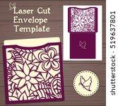 lasercut vector wedding... | Shutterstock .eps vector #519637801
