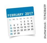 february 2017. calendar vector... | Shutterstock .eps vector #519638659
