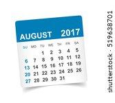 august 2017. calendar vector...   Shutterstock .eps vector #519638701