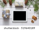 christmas online shopping... | Shutterstock . vector #519640189