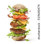 delicious monster burger with... | Shutterstock . vector #519640474