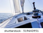 sail vessel surfing on the sea | Shutterstock . vector #519643951