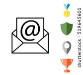 envelope mail icon. email...   Shutterstock .eps vector #519645601