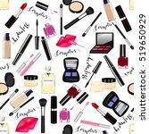 makeup  perfume  cosmetics...   Shutterstock .eps vector #519650929