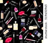 makeup  perfume  cosmetics... | Shutterstock .eps vector #519650965