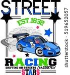 vector racing car.... | Shutterstock .eps vector #519652057