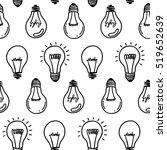 lamp light bulb hand drawn... | Shutterstock .eps vector #519652639
