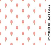 pink ice cream on a stick... | Shutterstock .eps vector #519653611
