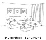 living room interior graphic... | Shutterstock .eps vector #519654841