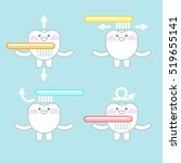 teeth clean themselves. oral... | Shutterstock .eps vector #519655141