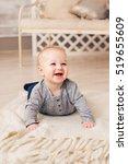 adorable baby boy in sunny... | Shutterstock . vector #519655609