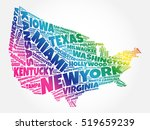 usa map word cloud collage with ... | Shutterstock .eps vector #519659239