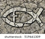 christian fish symbol on...   Shutterstock . vector #519661309