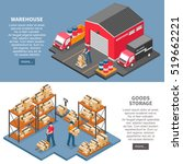 logistics and delivery two... | Shutterstock .eps vector #519662221
