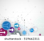 flow of arrows. imagination of... | Shutterstock .eps vector #519662311