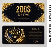 gift card layout template with... | Shutterstock .eps vector #519665611