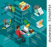 e learning infographic set... | Shutterstock .eps vector #519665914