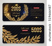 Gift Card Layout Template With...