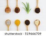 natural spa ingredients. coffee ... | Shutterstock . vector #519666709