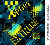 abstract seamless grunge... | Shutterstock .eps vector #519668227
