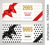 gift card layout template with... | Shutterstock .eps vector #519668344