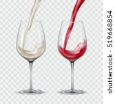 set transparent glasses with... | Shutterstock .eps vector #519668854